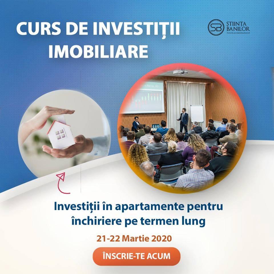 Curs de investiții imobiliare – Eveniment 21-22 martie 2020