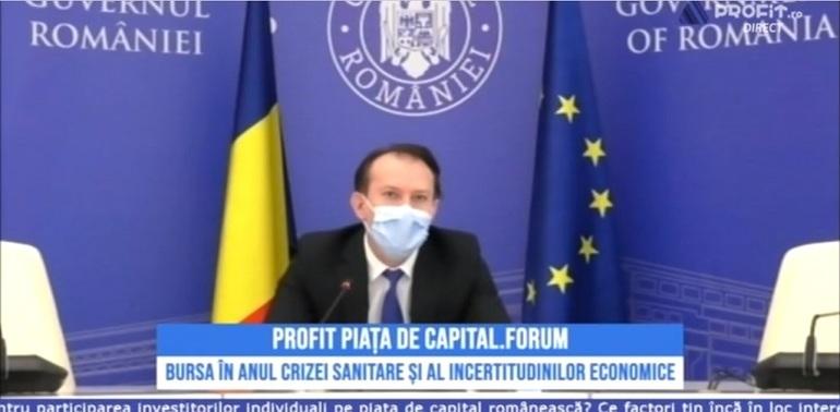 Premierul Cîțu: Guvernul va adopta o strategie pentru dezvoltarea pieței de capital. Posibilă reducere a taxării pentru investitori la bursă