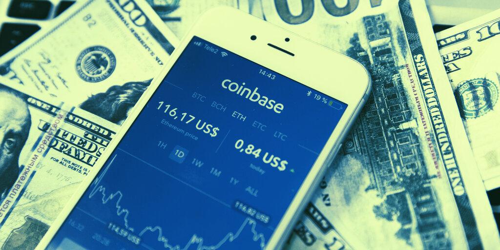 Listarea Coinbase
